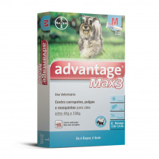 Advantage Max 3 1ml Cães entre 4kg E 10kg