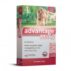 Advantage Max 3 2,5ml Cães entre 10kg e 25kg