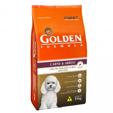 Golden Cães Adultos Mini Bites Carne e Arroz